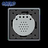 Сенсорный импульсный выключатель для штор/жалюзи Livolo, Radio, фото 2