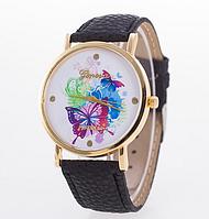Женские наручные часы GENEVA с бабочками черные