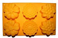 Форма силиконовая Ассорти цветы 3D на планшете