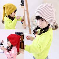 Шапка, шапочка демисезонная для девочек, универсалный размер: 3-13 лет