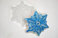 Форма пластиковая для мыла Снежинка