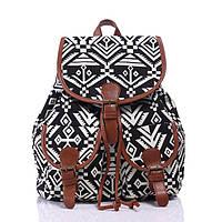 Рюкзак женский городской Хиппи Alasca black-white (черно-белый)