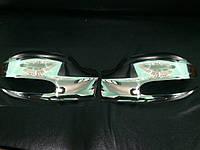 Накладки на зеркала Viano 2004-2010 (2 шт, нерж) - Mercedes Vito W639 (2004-2015)