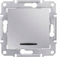 Выключатель 1-клавишный с подсветкой, алюминий - Schneider Electric Sedna (SDN0400360)