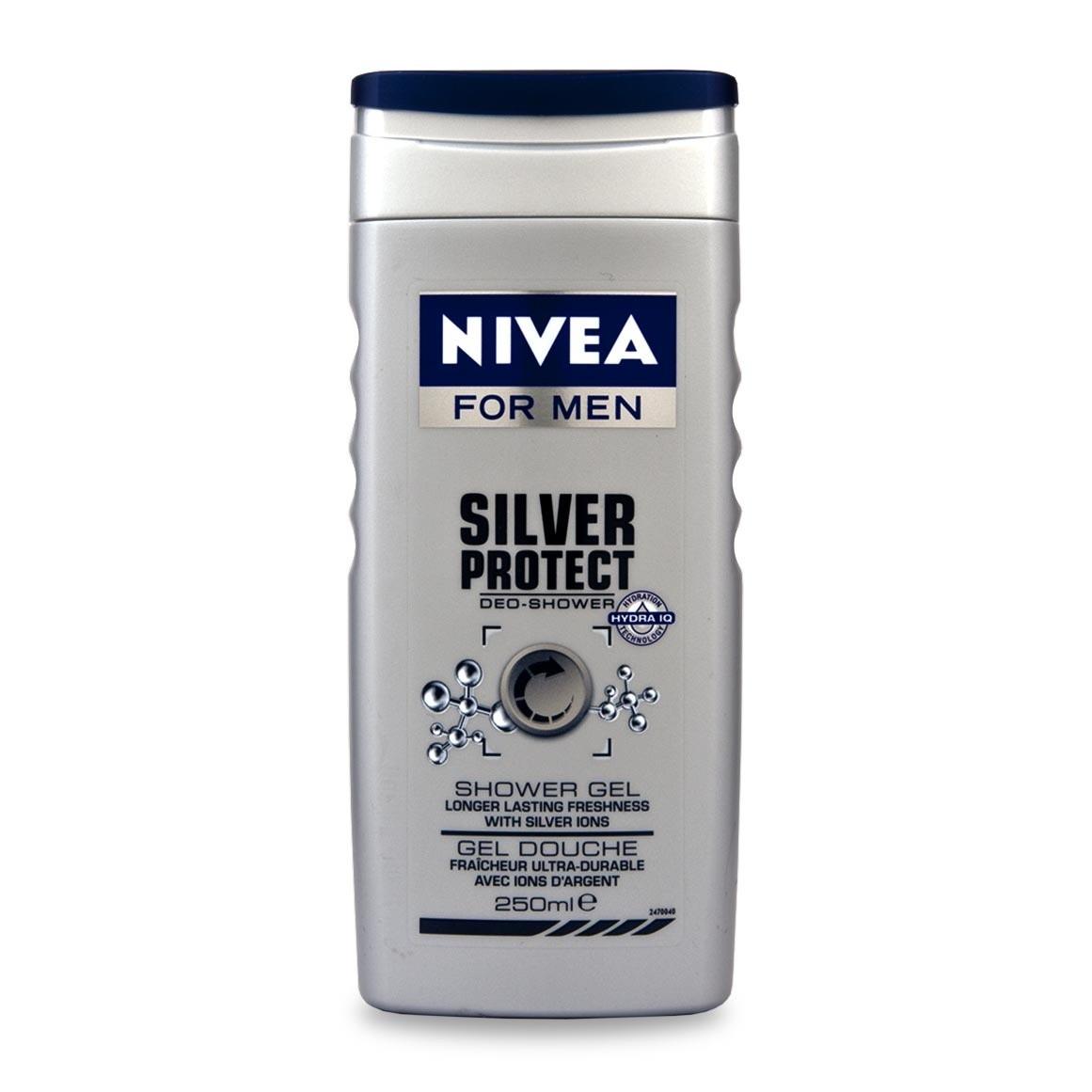 Гель для душу для чоловіків Nivea Men silver protect 250 мл