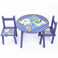 Детский столик с 2 стульчиками Baby Tilly Цветы