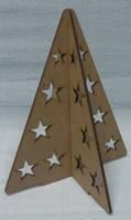 Ёлка сборная (из 2-х частей) со звездами