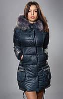 Зимняя куртка бутылочного цвета
