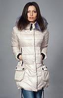 Теплая курточка со съемным мехом