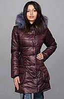 Красивая шоколадная куртка воротник стойка