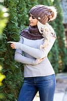 Комплект Эйфория (шапка и шарф-хомут) 4253-7