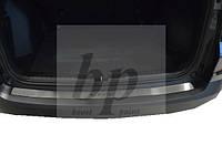 Защитная хром накладка на задний бампер (планка без загиба) Honda CR-V IV (хонда срв 4 2012+)