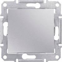 Выключатель проходной 1-клавишный, алюминий - Schneider Electric Sedna (SDN0400160)