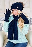 Комплект Эйфория (шапка, шарф и перчатки) 4253-15