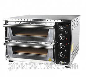 Электрическая мини-печь для пиццы Apach AMS2 (две камеры; 350х410х75 мм)
