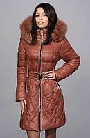 Оригинальное пальто с теплым наполнителем