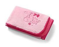 Двустороннее плюшевое одеяло из микрофибры (розовый) 75х100см, BabyOno