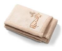 Двустороннее плюшевое одеяло из микрофибры (Бежевый) 75х100см, BabyOno