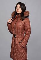 Приталенное пальто со съемным поясом