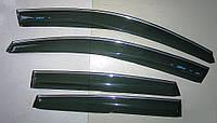 Дефлекторы окон (ветровики) с хром полосой (кантом-молдингом) Honda CR-V III (хонда срв 3 2007-2012)