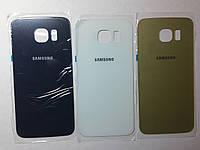 Крышка  задняя  Samsung G925F, Galaxy S6 Edge белая original .