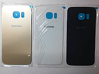 Крышка задняя Samsung G925F, Galaxy S6 Edge золотая high copy.
