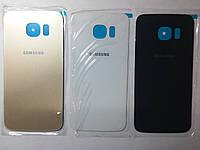 Крышка  задняя  Samsung G925F, Galaxy S6 Edge синяя original .