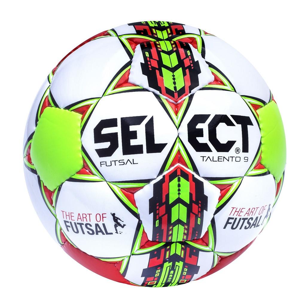 Мяч футзальный Select Futsal Talento 9, бело-зелено-красный, р. 2, ламинированный