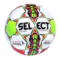 Мяч футзальный Select Futsal Talento 9, бело-зелено-красный, р. 2, ламинированный, фото 1