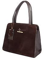 Сумка женская замшевая коричневая каркасная Victoria Beckham, Коричневый