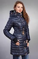 Куртка с съемным, объемным капюшоном и съемным поясом