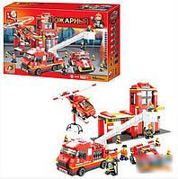 """Конструктор SLUBAN """"Пожарные спасатели"""" 727 деталей арт.M38-B0227"""