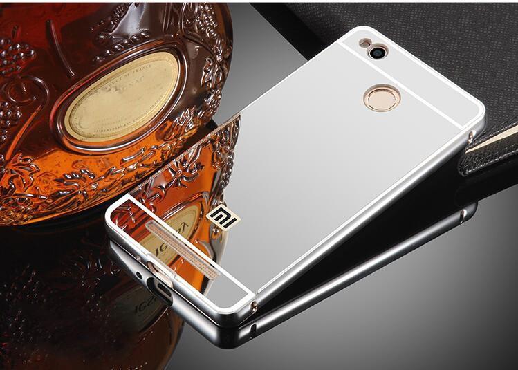 Чехол для Xiaomi Redmi 3 Pro / Redmi 3S зеркальный серебристый