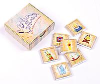 """Шоколадный набор """"Моменты счастья"""" (RU) 7*7 см.,60 г,12 плиточек"""
