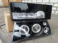 Передние фары+задние фонари на ВАЗ 2109 №24 черного цвета.