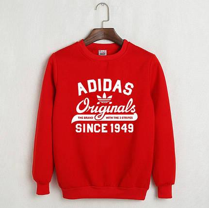Мужской Свитшот Adidas красный , фото 2