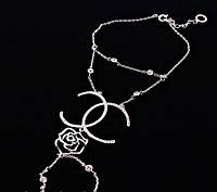 Слейв-браслет с кольцом Chanel