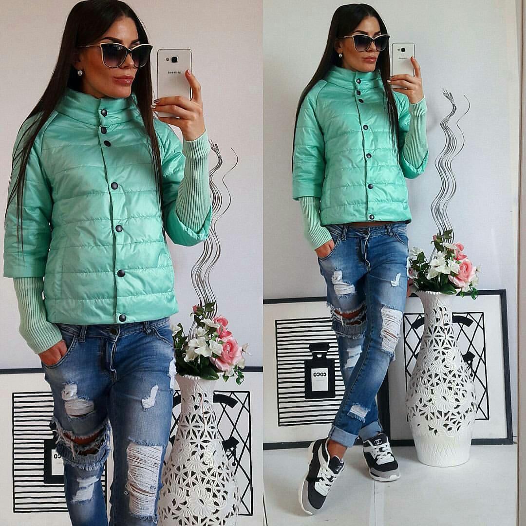 Куртка женская,  модель 205, мятный