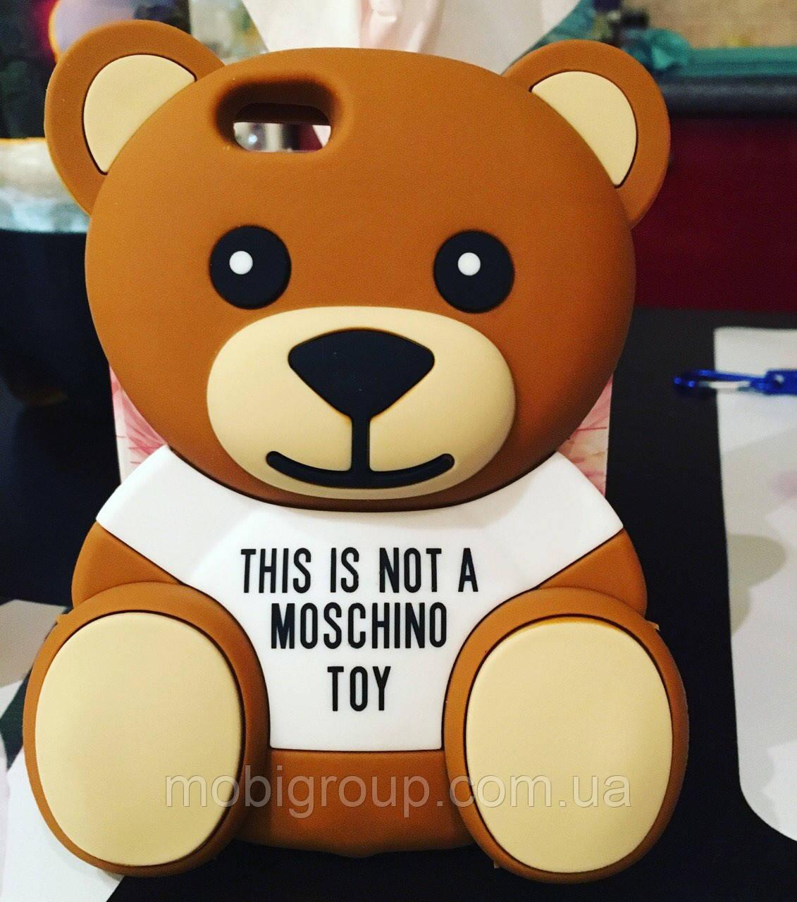 Силиконовый чехол Медведь MOSCHINO iPhone 6S/6, Мишка
