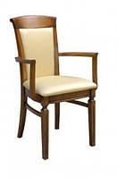 Деревянное кресло с подлокотниками Paged Rapsodia