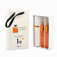 Подарочный парфюмерный набор с феромонами Chanel Coco Mademoiselle (Шанель Коко Мадмуазель) 3x15 мл