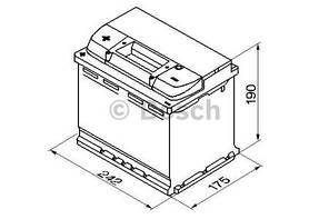 """Аккумулятор BOSCH S5 Silver Plus 63Ah , EN610 , левый """"+"""" , ( Bosch 0 092 S50 060 ) 242*175*190 (Д*Ш*В)"""