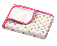 Мягкое двухслойное одеяло из фланели (Бабочки) 75х100см, BabyOno