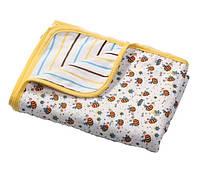 Мягкое двухслойное одеяло из фланели (Пчелки) 75х100см, BabyOno