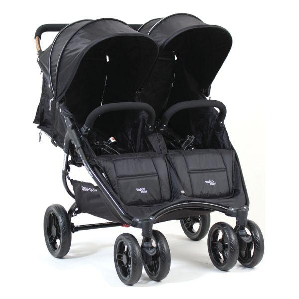 Черная коляска для двойни Valko baby Snap Duo