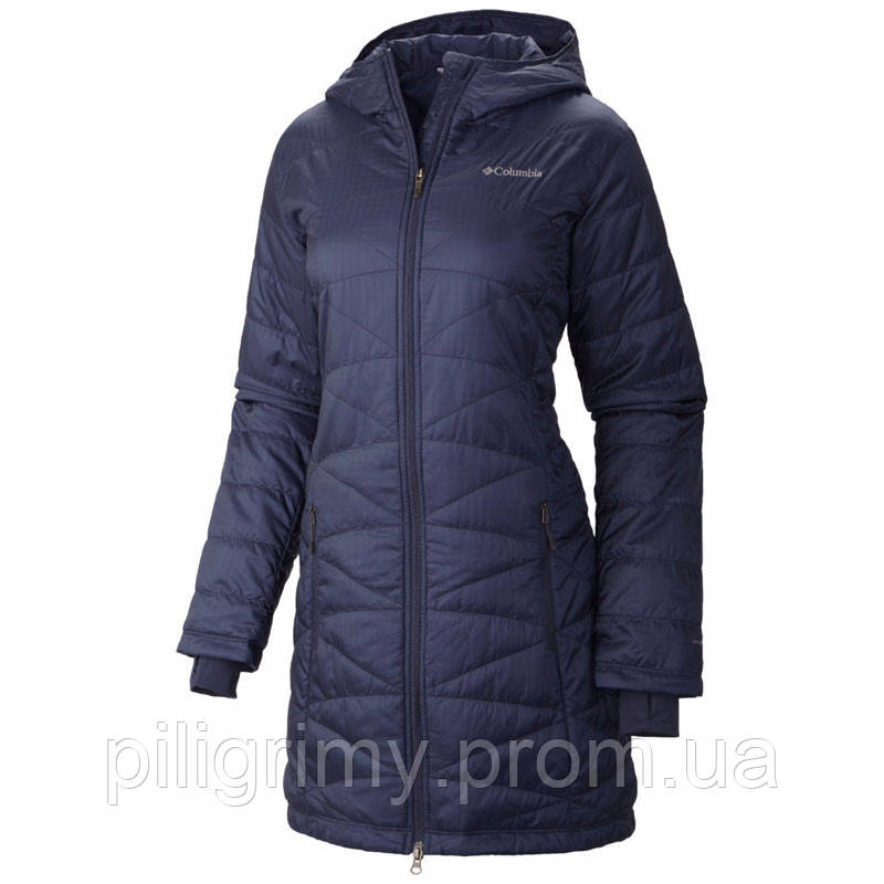 1f6f2b2424a6 Женская куртка-пальто Columbia MIGHTY LITE™ HOODED JACKET темно-синяя -  интернет-