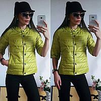 Куртка женская с рукавом 3/4, модель  202, оливковая 52