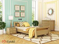 Кровать Диана односпальная Бук Щит 102 (Эстелла-ТМ)