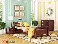 Кровать Диана односпальная Бук Щит 104 (Эстелла-ТМ)