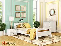 Кровать Диана односпальная Бук Щит 107 (Эстелла-ТМ)